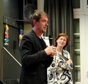Aldermen Peter van de Wiel and Mirjam